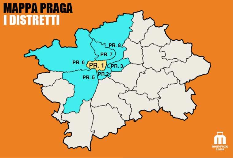 Mappa delle Zone di Praga