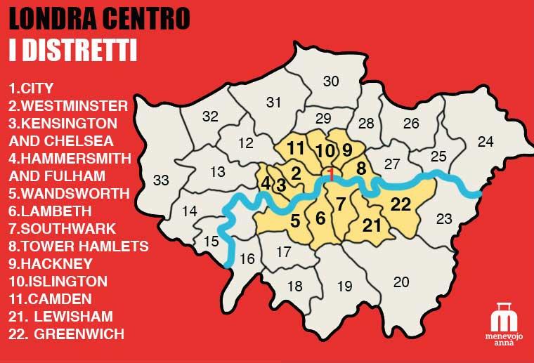 Mappa Zone Centro Londra