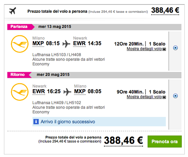 Voli low cost a r per new york a soli 383 for Dove alloggiare new york