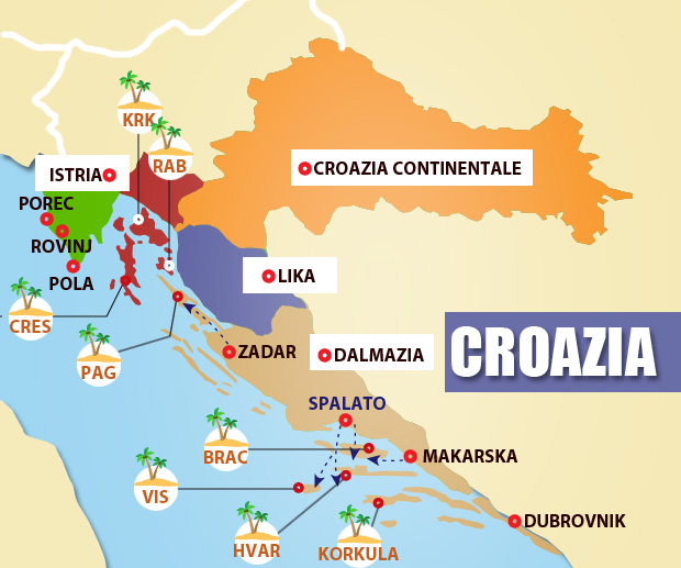 Mappa-zone-della-Croazia