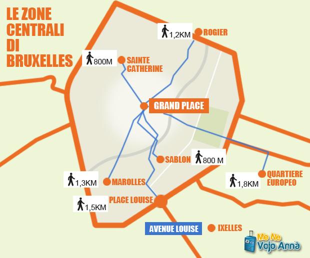 Mappa-Zone-centro-di-Bruxelles