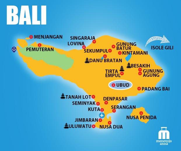 Mappa Isola di Bali