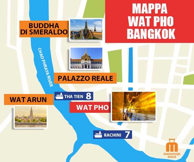 Mappa Wat Pho Bangkok