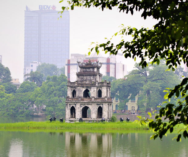 Hanoi zona lago Hoan Kiem