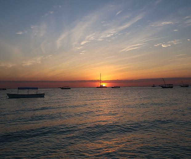 vedere il tramonto a Zanzibar