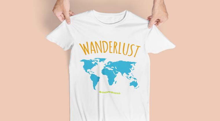 maglietta wanderlust