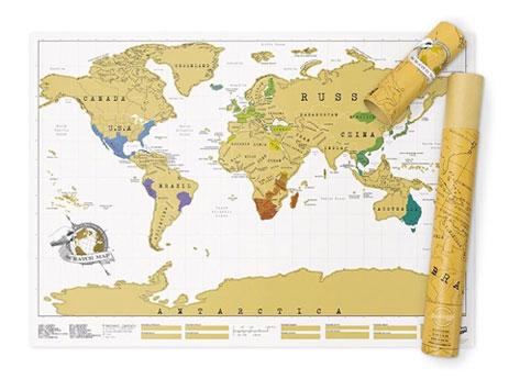 regali per viaggio Mappa Scratch