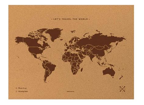 regalo viaggio mappa sughero
