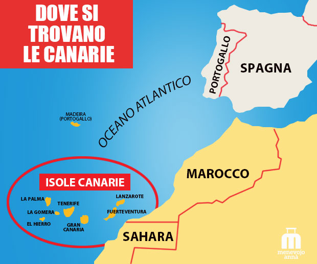 mappa isole canarie