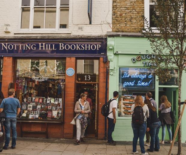 dormire a Notting Hill zona di Londra