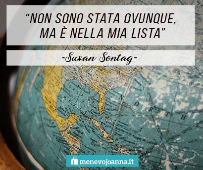 Aforisma Viaggi Susan Sontag