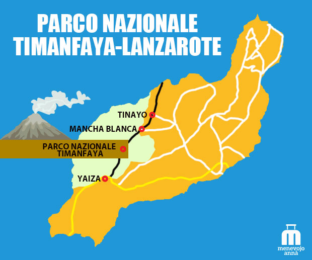 Mappa Parco Timanfaya