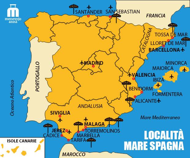 Mappa Mare Spagna