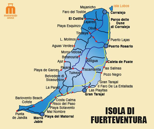 Fuerteventura Mappa